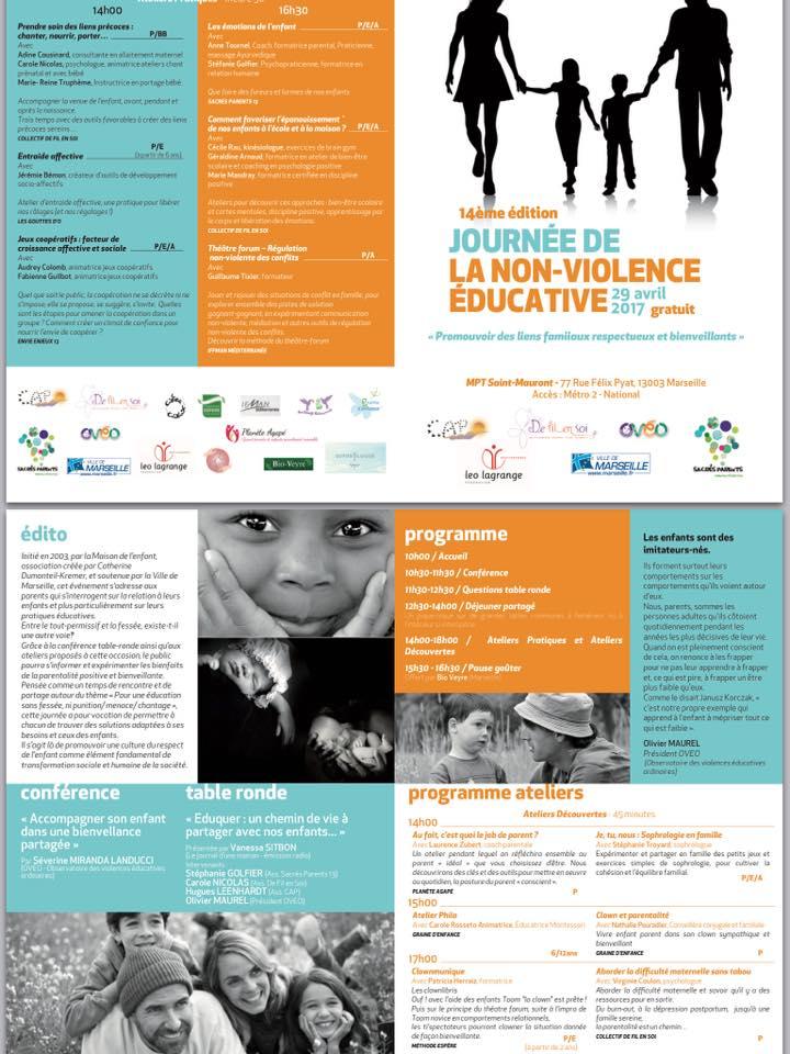 Affiche 14e édition Journée de la non-violence éducative