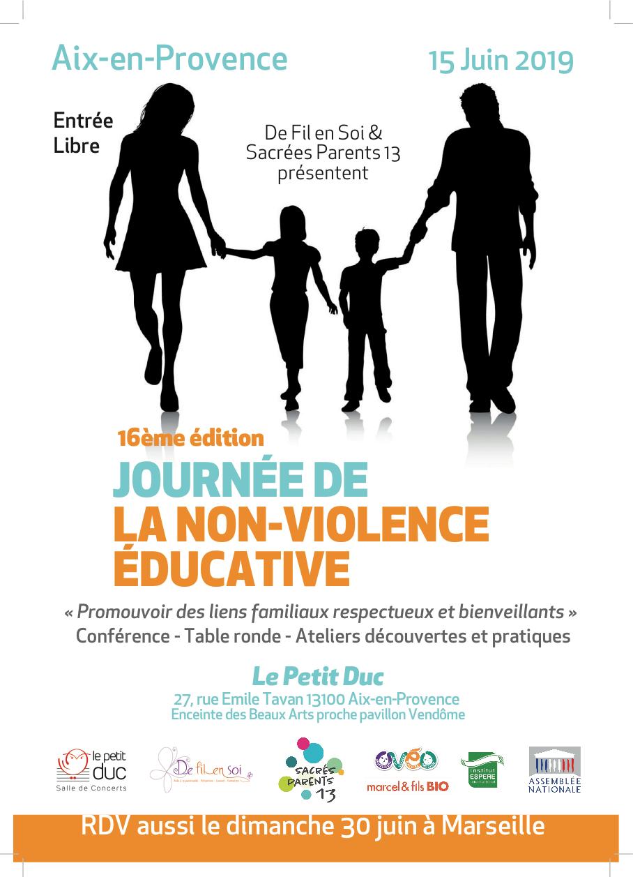 Affiche 16e édition Journée de la non-violence éducative