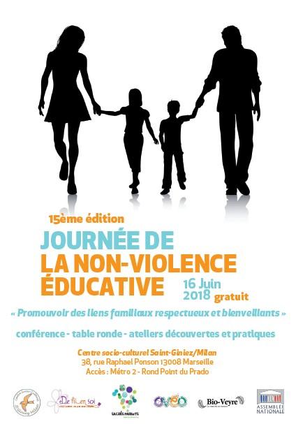 Affiche 15 édition Journée de la non-violence éducative